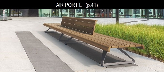 AIR PORT banc bois METALCO MOBILCONCEPTS