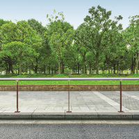 DELINEA barrière de ville, barrière urbain, acier Corten & Inox
