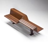 SEDIS TORSION banc public, banc bois, assis debout mobilier urbain design