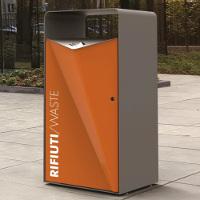 PACK Poubelle de ville avec cendrier intégré / Corbeille de propreté acier