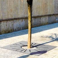 SUNNY GRILLE D'ARBRE EN ACIER CORTEN / ACIER INOX / ACIER