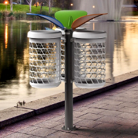 BRAVO BOOM corbeille pour espace public, corbeille tri sélectif│METALCO fabricant mobilier urbain design