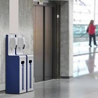 Gamme sani-station distributeur Gel hydroalcoolique et masque COVID 19