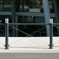 GENESIS barrière de ville, barrière urbaine acier et inox│Metalco mobilier urbain design
