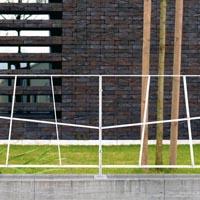 ROUTE barrière de ville, barrière urbaine, acier corten
