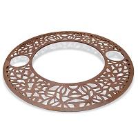 OBRA-C grille d'arbre ronde acier corten inox - mobilier urbain METALCO