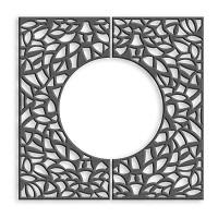OBRA-Q grille d'arbre carrée acier corten inox - mobilier urbain METALCO