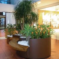 FLO Jardinière design, jardinière modulaire acier banquette bois│Metalco mobilier urbain design