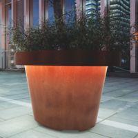 SIZE jardinière acier corten / ronde /pour espace public