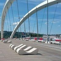 Pont-Raymond-Barre-Lyon-banc-beton-acier-METALCO