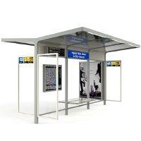 LEGA abri voyageurs personnalisable│METALCO Fabricant d'abri bus spécifiques