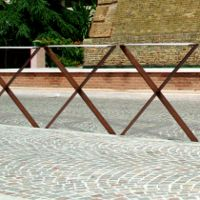 ICS barrière de ville, barrière urbaine design INOX + CORTEN│METALCO fabricant de mobilier urbain