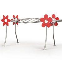 J402 ÉCHELLES DE SUSPENSION inox avec décors « Fleurs » pour aires de jeux│METALCO fabricant jeux extérieurs mobilier urbain