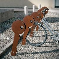 CHIAVE Range Vélo Corten, Support Velo Collectivite, Support Velo et Parking Mobilier Urbain Design METALCO
