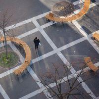 Mobilier Urbain Banc Bois COBRA METALCO Place des Fêtes à PARIS