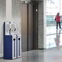 Sani-station covid19 distributeur masque et gel