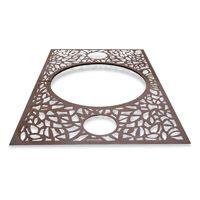 OBRA-R grille d'arbre rectangulaire acier corten inox - mobilier urbain METALCO