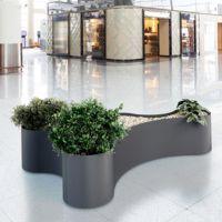 HELMUT Jardinière design d'intérieur en acier│contemporaine│pour espace public│Metalco mobilier urbain