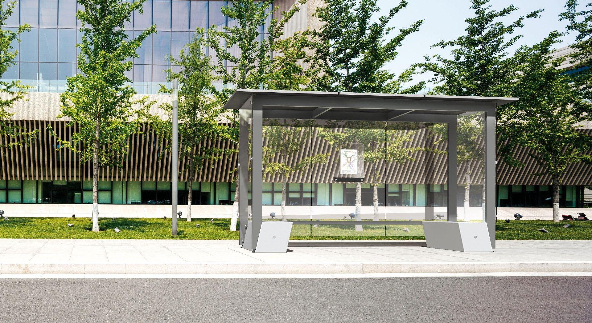 SELF abri bus autoportant, mobilier urbain desgin