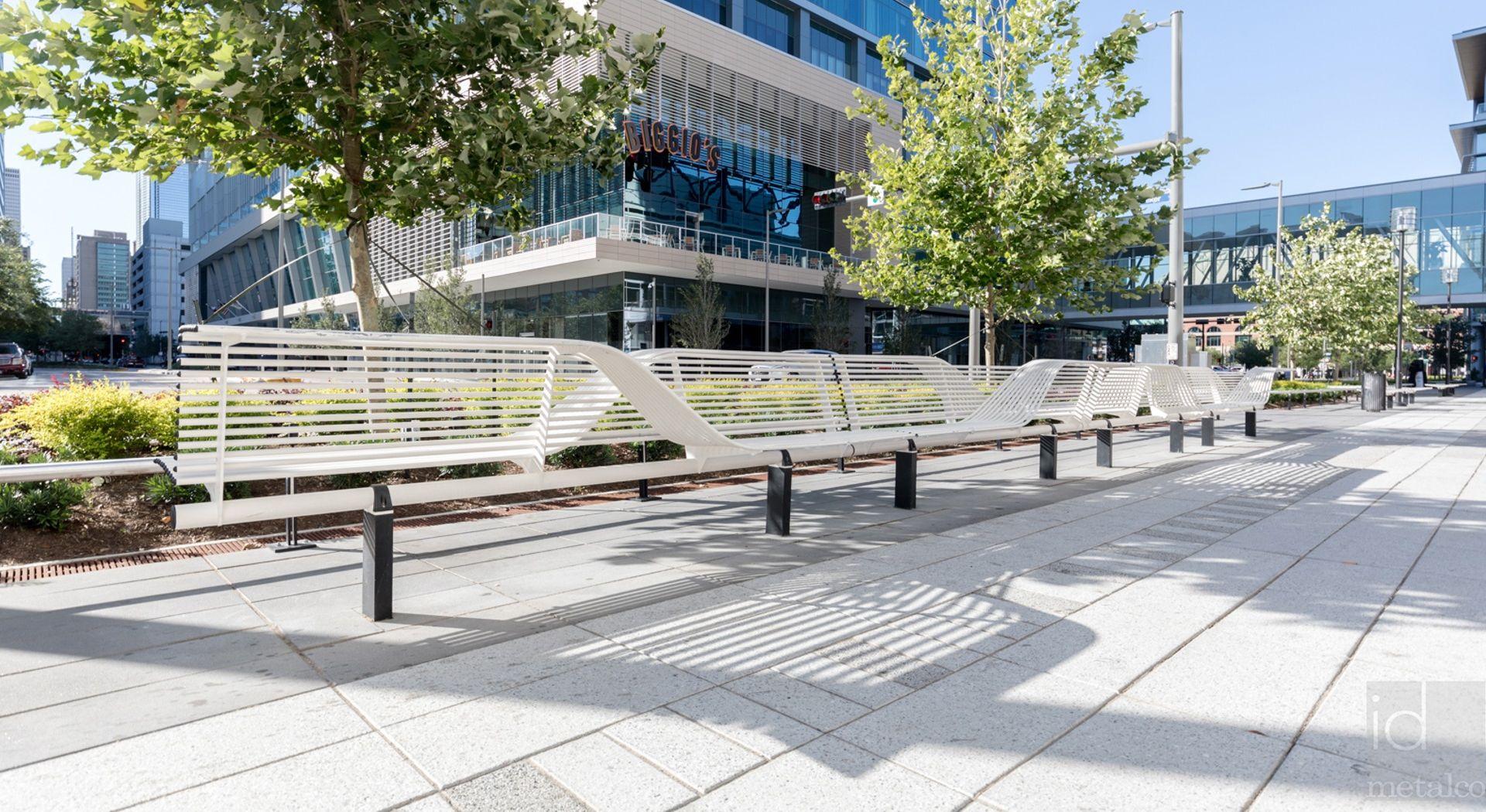 LIBRE EVOLUTION TORSION banc urbain design, banc double avec assis-debout