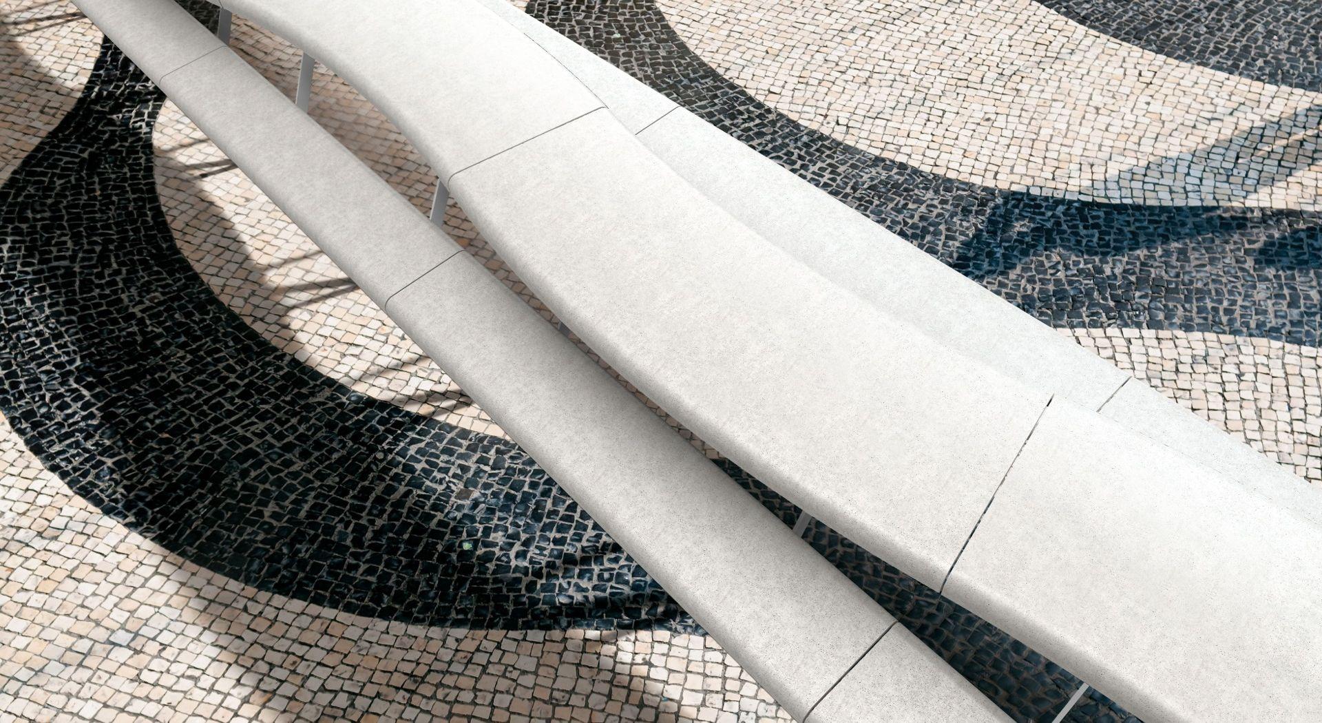 AIR C banquette-table pique nique béton UHPC│METALCO fabricant mobilier urbain