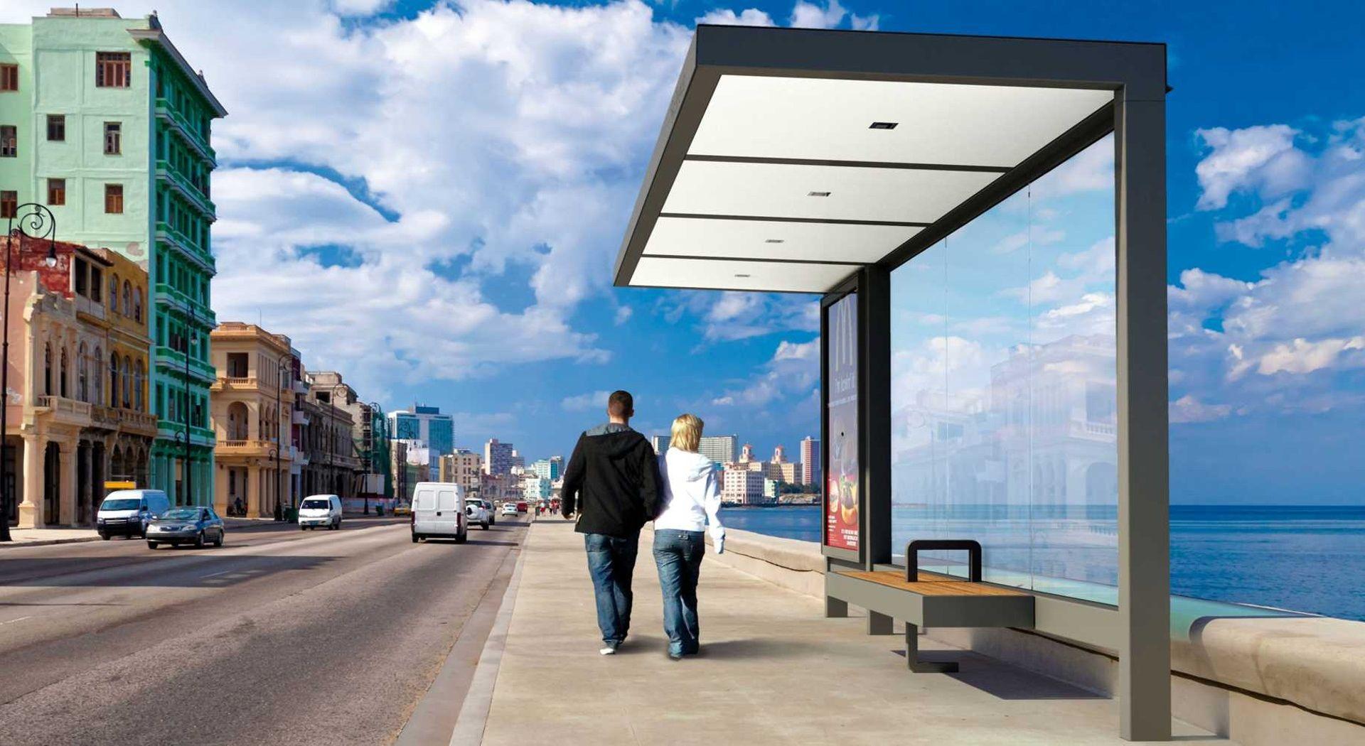 HUT abris voyageurs│METALCO fabricant d'abri bus mobilier urbain design