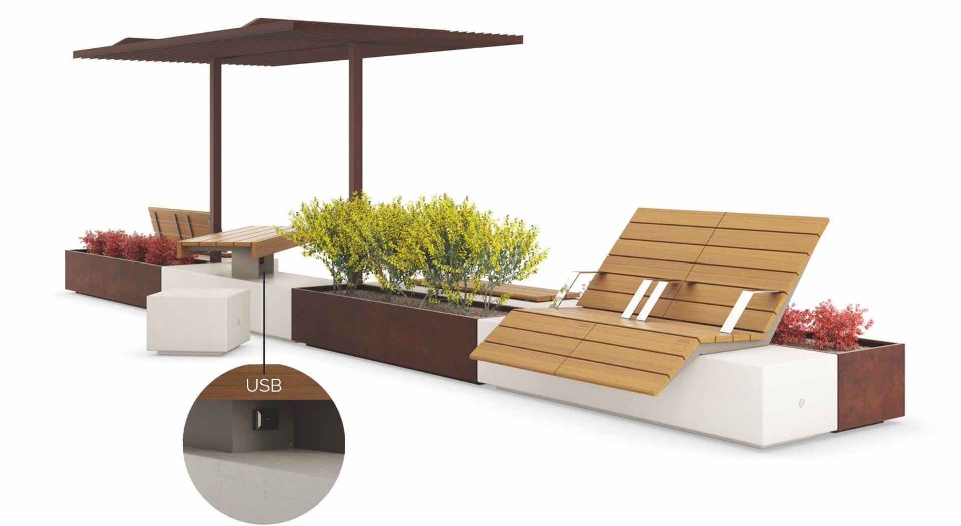 Mobilier urbain table pique nique, banc urbain espaces paysagers METALCO