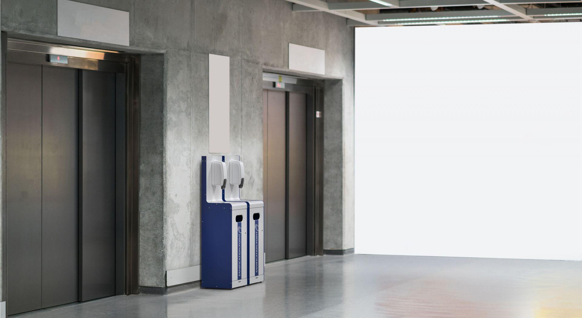Micro station sanitaire pour lutter contre le COVID-19 coronavirus