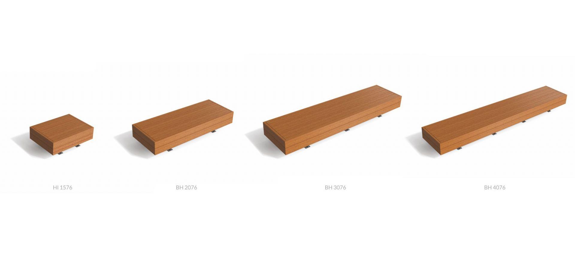 BIG HARRIS Banc Urbain Design Bois, Mélèze, WPC - METALCO Fabricant Mobilier Urbain Design