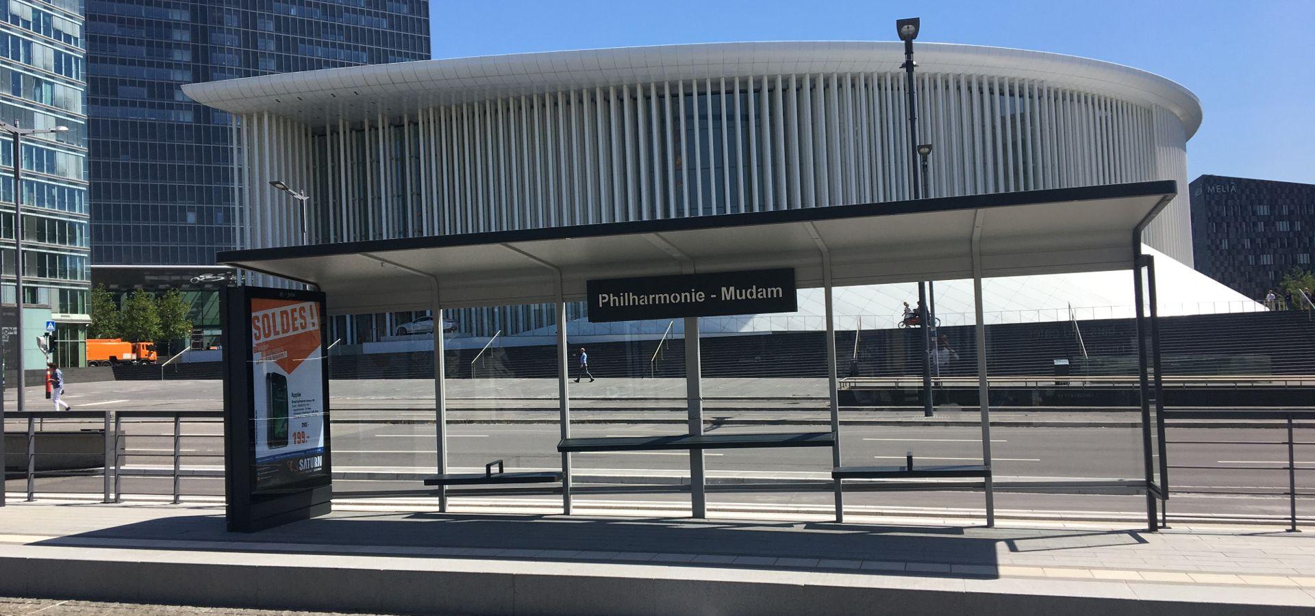 Abris de station LEGA METALCO - tramway Luxembourg