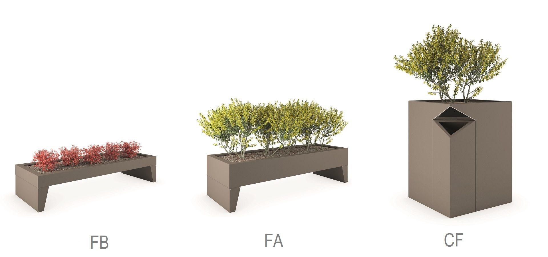 ISOLAURBANA banc public modulaire / design original / en bois / en acier / en béton