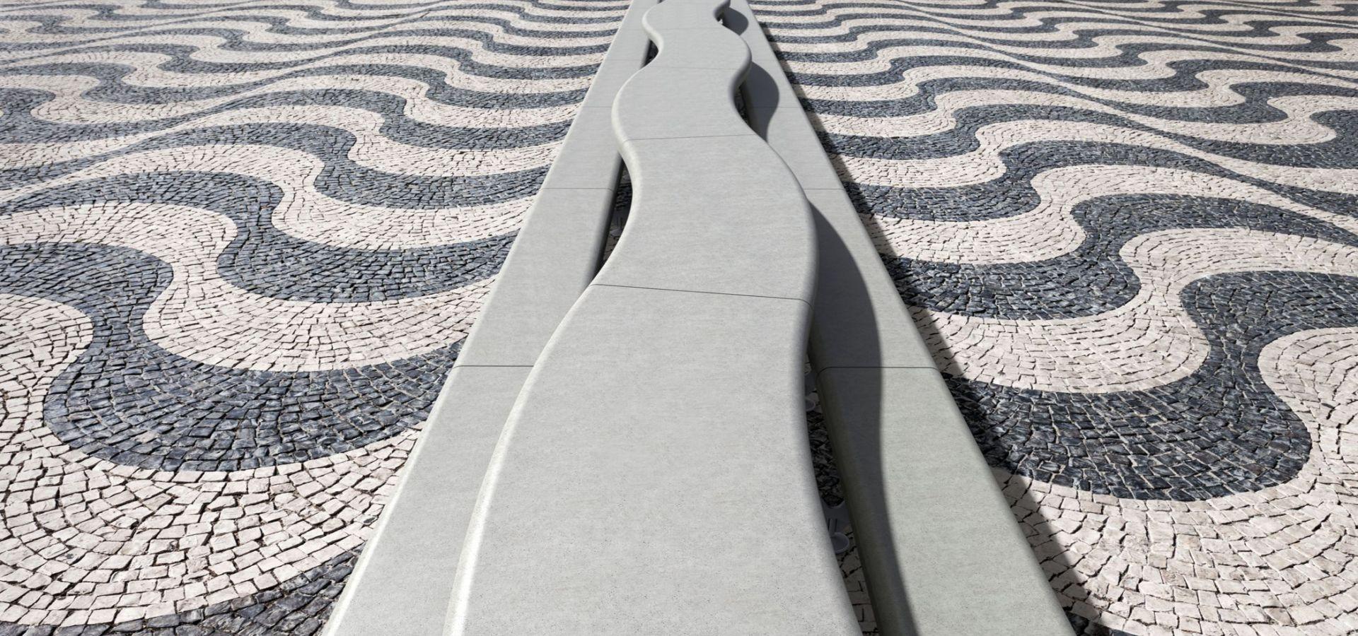 AIR C ensembletable etdoublebanquettes pique nique en béton UHPC│METALCO mobilier urbain design