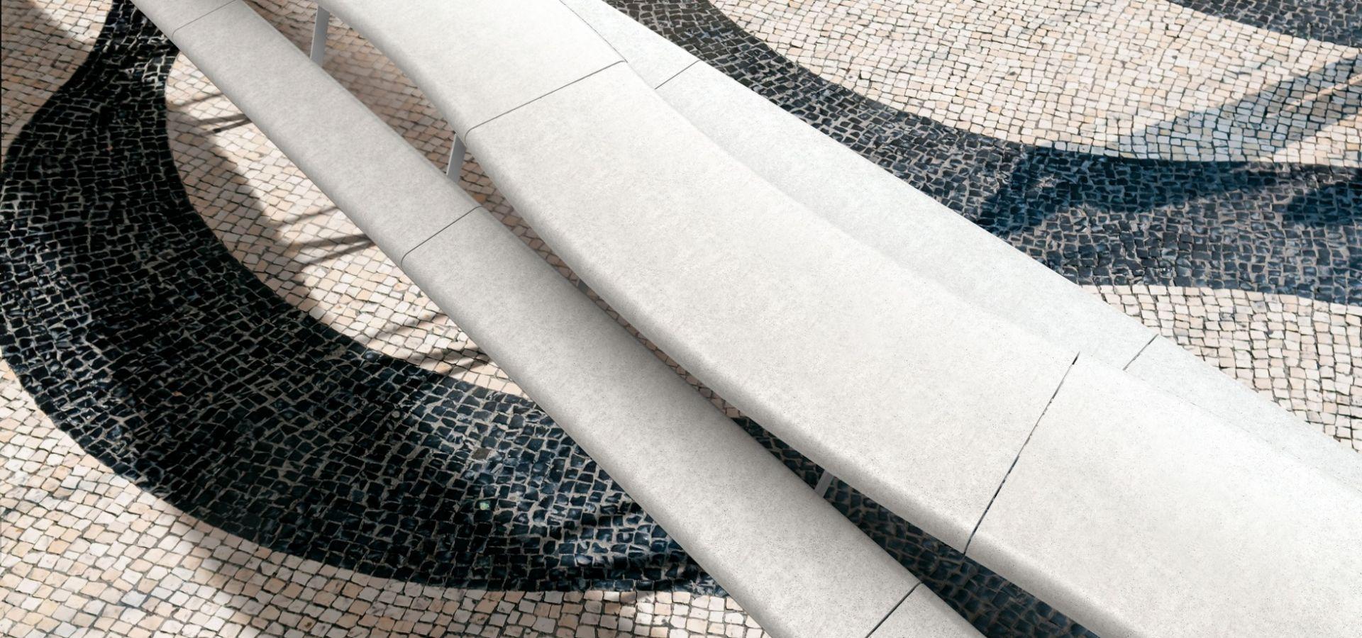 AIR-C Table Pique Nique Beton UHPC Collectivité avec banquettes│METALCO mobilier urbain design aires de pique-nique