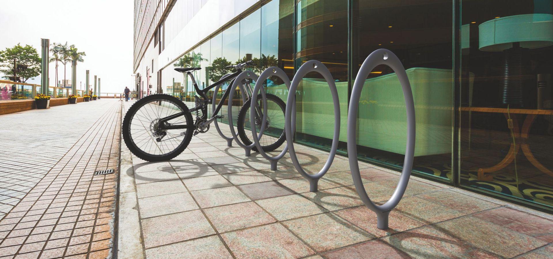 CRUNA METALCO Range-vélo Aluminium, support vélo Collectivité pour parking à vélo